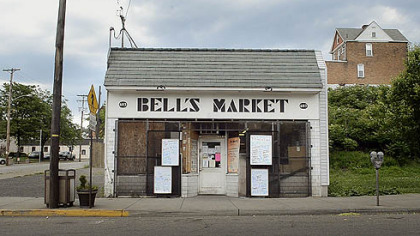 Bell's Market on Braddock Avenue, in Braddock.