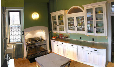 The kitchen after restoration.