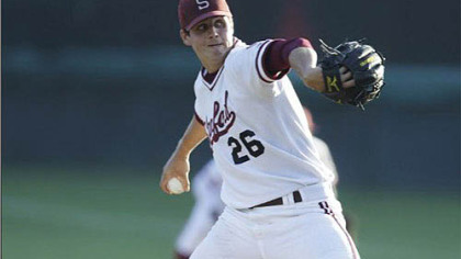 Stanford pitcher Mark Appel throws during a game at in May. The Pirates selected Appel tonight with the eighth-overall pick in the 2012 Major League Baseball draft.