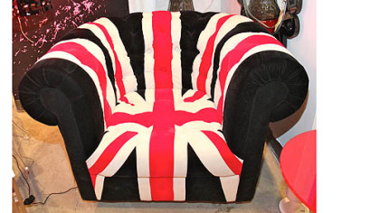 Zuo Modern Union Jack club chair, available through Weisshouse