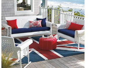 Grandin Road's indoor-outdoor rug, $299-$399 at Grandinroad.com