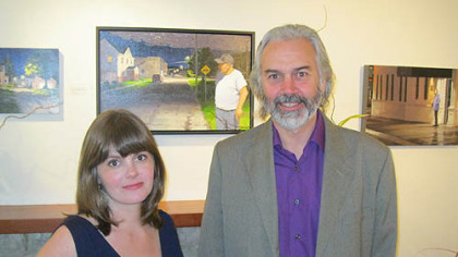 Sommer Toffle and exhibiting artist, William DeBernardi.