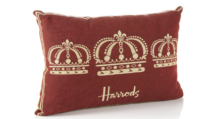 Rectangular Crown Cushion, available at Harrods in London and www.harrods.com