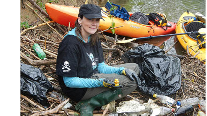 Melissa Rohm collected a rubber ducky, among other things, during last year's cleanup.