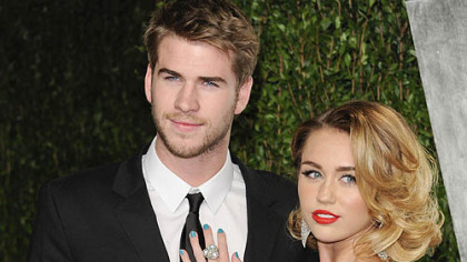 "Liam Hemsworth and Miley Cyrus, who met on the set of ""The Last Song"" in 2009, announced their engagement Wednesday."