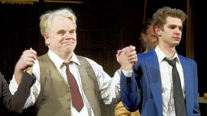 "Philip Seymour Hoffman and Andrew Garfield both won Tony Award nominations for the revival of Arthur Miller's ""Death of a Salesman,"" directed by Mike Nichols."