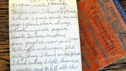 The detail of the &quot;hobo&quot; journals during the Depression-era days hopping railcars to travel through 48 states.