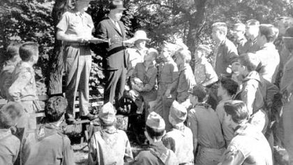In this June 1962 photo, police enlist Boy Scouts to help search for 10-year-old Mary Ann Verdecchia.