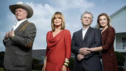Larry Hagman, Linda Gray, Patrick Duffy and Brenda Strong in TNT&#039;s &quot;Dallas.&quot;