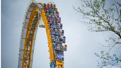 The Skyrush coaster at Hersheypark is one of three U.S. coasters that opened this year. The other two are in Dollywood in Tennessee and at Six Flags Great America outside Chicago.