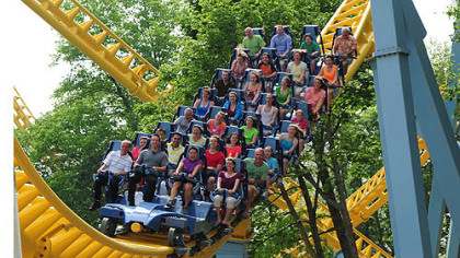 Skyrush coaster.