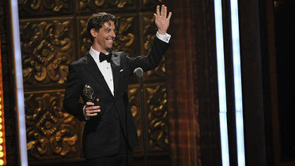 Christian Borle of Fox Chapel was all smiles after winning his first Tony Award.
