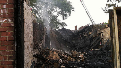 A fire caused a Homewood nightclub to collapse this morning.