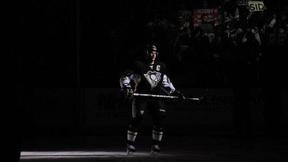 The Penguins' Sidney Crosby at the Consol Energy Center.