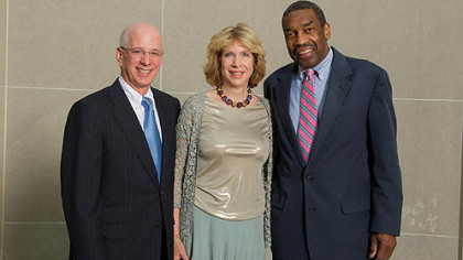 Nancy and Bill Rackoff, Pursue of Peace co-chairs and honoree William E. Strickland.