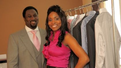 Business partners Corey Brown and Carly Brown of C. Brown Custom Clothiers at Carly Brown's home in Brookline.