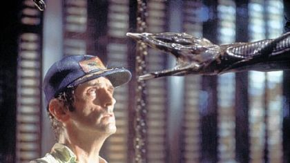 "Earthlings didn't fare so well in ""Alien,"" the 1979 film in which an interplanetary cargo ship crew is sent to planet LV426 to serve as unwitting hosts who will bring home monstrous creatures with acid for blood. Harry Dean Stanton's character, top, is about to meet an unpleasant end."