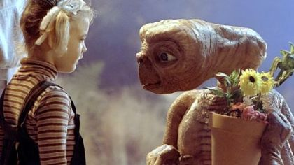 "Gertie (Drew Barrymore), above, says goodbye to E.T. in the seminal ""aliens-as-nice-guys"" film of the same name from 1982."