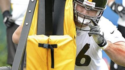 Steelers No. 1 pick David DeCastro works on his first day in uniform.