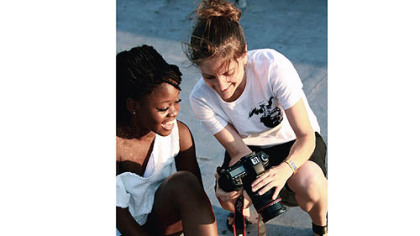 """First Position"" director Bess Kargman, right, with dancer Michaela DePrince, a war orphan from Sierra Leone."