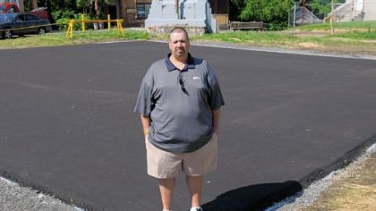 Stowe resident Jack DeFillip, who won the money in a Procter & Gamble promotion, donated $10,000 to install a half-court basketball court at Norwood Park.