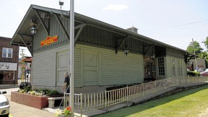 The new home of the Bridgeville Historical Society is an old railcar that was the library.