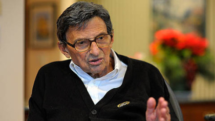 Former Penn State football coach Joe Paterno during a Jan. 12 interview.