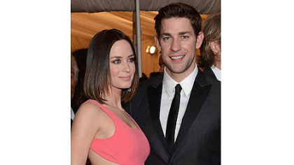 Emily Blunt and John Krasinski, shown at a New York gala last month,  enjoyed a Strip District loft and stops at Bar Marco while he was filming here.