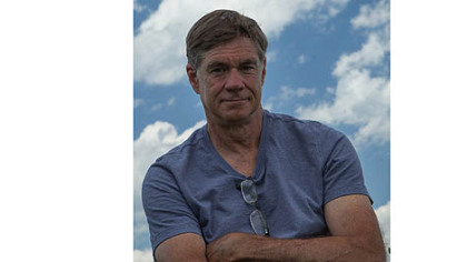 "Gus Van Sant, director of ""Promised Land,"" on day 27 of the shoot in Export."