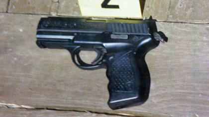 The pellet gun that police said Odell Brown pointed at a sheriff's deputy, who then fatally shot him.