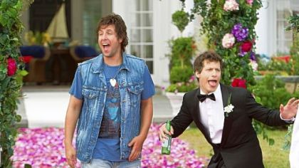 Adam Sandler and Andy Samberg in 'That's My Boy.'
