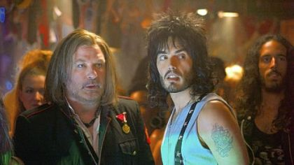 Alec Baldwin as Dennis Dupree and Russell Brand as Lonny in 'Rock of Ages.'