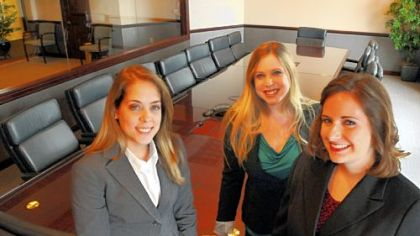 From left, Christina Preville, Sara Lutton and Katherine Janocsko are interning with Goehring Rutter & Boehm, Downtown, this summer.