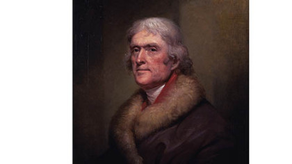 Thomas Jefferson in an 1805 portrait.