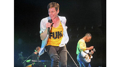 Nate Ruess leads fun. through its sold-out show at Stage AE.