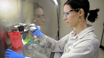 Research scientist Claire LeMasters works at Knopp Biosciences. The South Side company is involved in ALS research and drug development
