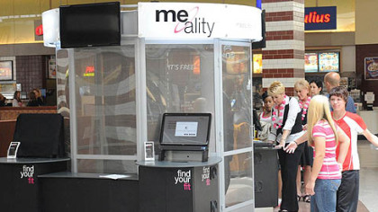 The Me-Ality body scanning booth at the Mall of Robinson.