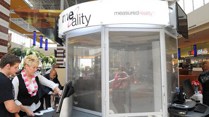 The Me-Ality body scanning booth.