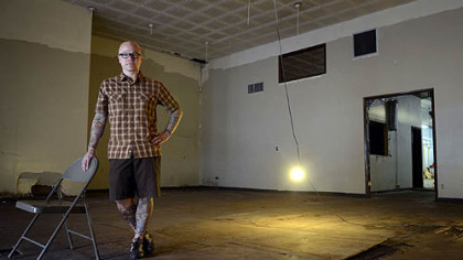 Chef Kevin Sousa stands in the Braddock space he will convert into a restaurant.