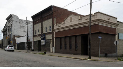 The building at the right, on the corner of Braddock Avenue and Eight Street in Braddock, will house a restaurant owned and operated by Pittsburgh chef Kevin Sousa.