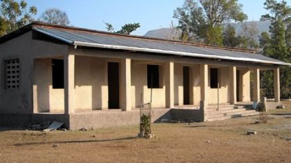 This is the school built in Haiti with help from Partners in Progress.