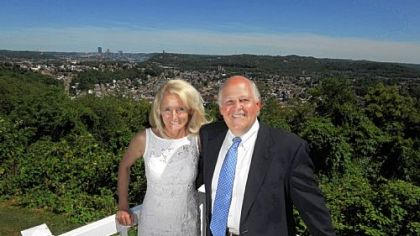 Mary Ann and David Cercone pose for a portrait from their home in McKees Rocks. David is a federal judge, and Mary Ann a district judge.