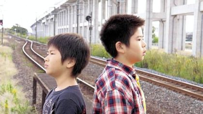 "Ohshiro Maeda, left, and Koki Maeda are brothers in ""I Wish."""