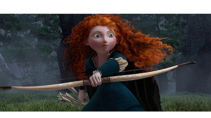 Merida (voice by Kelly Macdonald) in the Disney/Pixar movie &quot;Brave.&quot;