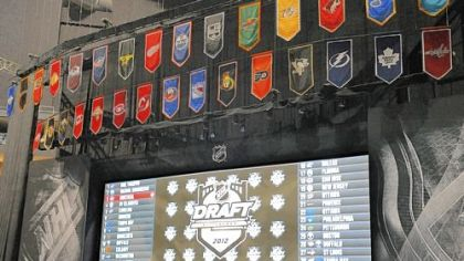 The draft board is tested Wednesday at Consol Energy Center. An electronic board will be used for the first time in this year's draft, which starts tonight with the first round and concludes Saturday.