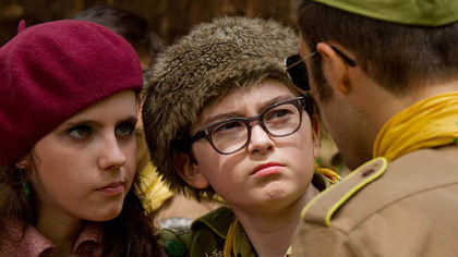 "Kara Hayward and Jared Gilman are the young newcomers in ""Moonrise Kingdom."""