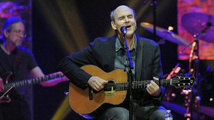 "James Taylor sings ""Caronlina In My Mind"" in concert at the Petersen Center."