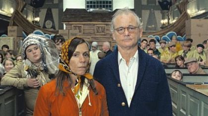 "Frances McDormand and Bill Murray as Mr. and Mrs. Bishop in ""Moonrise Kingdom."""