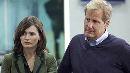 "Emily Mortimer and Jeff Daniels star in ""The Newsroom."""