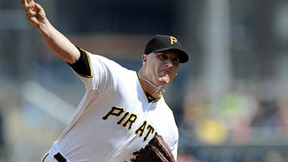 Pirates starting pitcher Brad Lincoln throws to a Detroit Tigers batter during the first inning.